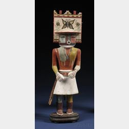 Hopi Polychrome Carved Wood Kachina Doll