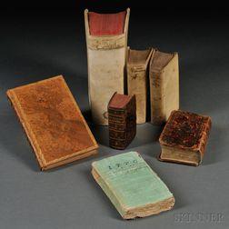 Early Printing, Mixed Lot, Seven Volumes: