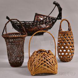 Four Bamboo Baskets