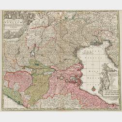 Europe, Four Matthäus Seutter (1678-1757) Maps.