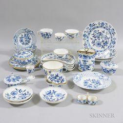 Extensive Meissen Blue Onion-pattern Porcelain Dinner Service.     Estimate $1,000-1,500