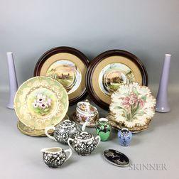 Seventeen Pieces of Ceramic Tableware