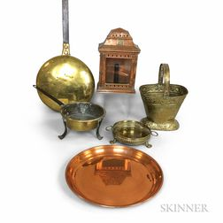 Six Brass and Copper Household Items