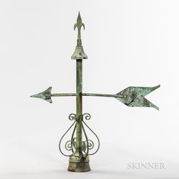 Copper Arrow Weathervane