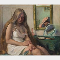 Margaret Fitzhugh Browne (American, 1884-1972)      Woman at Her Dressing Table