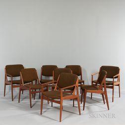Eight Arne Vodder (Danish, 1926-2009) for VAMO Mobelfabrik Dining Chairs