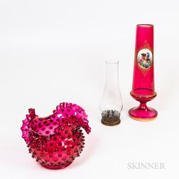Three Pieces of Glass Tableware