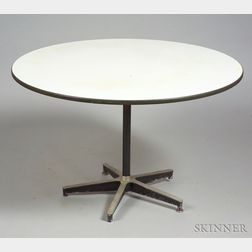 Charles Eames Attributed White Laminate-top Steel Dining Table