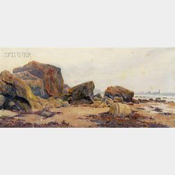 John McDougal (American, b. 1828)      Rocky Beach