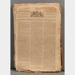 Newspapers: Providence Gazette and Country Journal