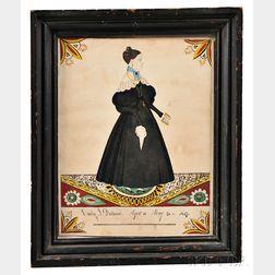 Joseph Davis (Maine/New Hampshire, 1811-1865)      Portrait of Emily J. Dockum