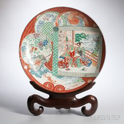 Large Imari Charger and Stand
