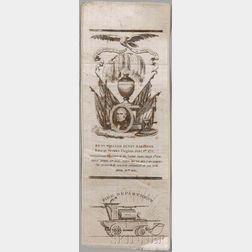 Harrison, William Henry (1773-1841) Mourning Ribbon.