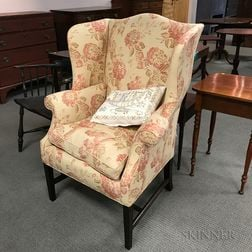 Federal Upholstered Mahogany Easy Chair