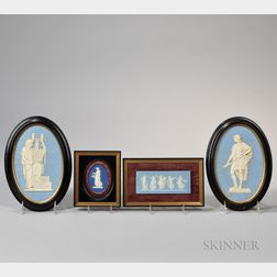 Four Wedgwood Jasper Medallions and Plaques