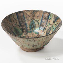 Kashan Turquoise-glazed Bowl