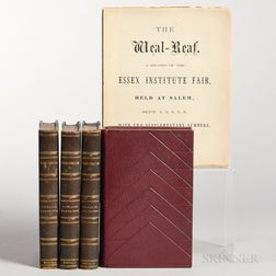 Hawthorne, Nathaniel (1804-1864) Five Volumes.