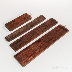 Four Carved Cookie Boards