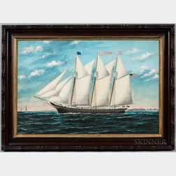 William P. Stubbs (Maine/Massachusetts, 1842-1909)      Portrait of the Schooner John A. Beckerman