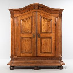 Inlaid Fruitwood Armoire