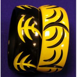 Two Bakelite Cut Through Bangles