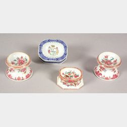 Four Chinese Export Porcelain Salt Cellars