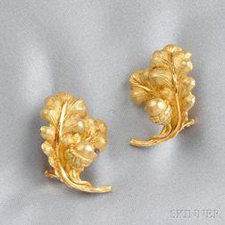 18kt Gold Acorn Earrings, Buccellati