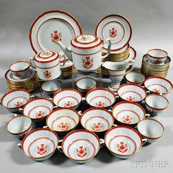 "Eighty-seven Pieces of Copeland Spode ""Newburyport"" Transfer-decorated Porcelain"