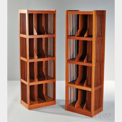 Pair of Charles Webb Record Cabinets