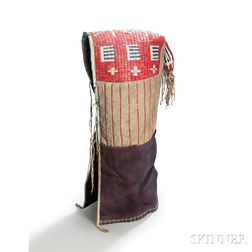 Lakota Quill and Bead-decorated Cradle