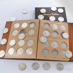 Seventy-six Morgan Dollars