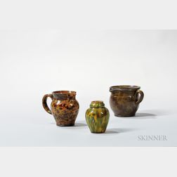 Three Redware Table Items