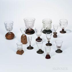 Thirteen Make-do Wineglasses or Goblets