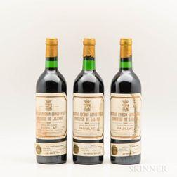 Chateau Pichon Lalande 1980, 3 bottles