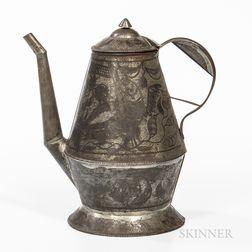 Pennsylvania Tin Wrigglework Coffeepot