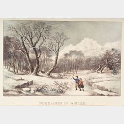 Currier & Ives, publishers (American, 1857-1907)    Woodlands in Winter.