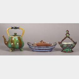 Three Wedgwood Majolica Items