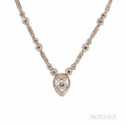 Art Deco Platinum and Diamond Necklace