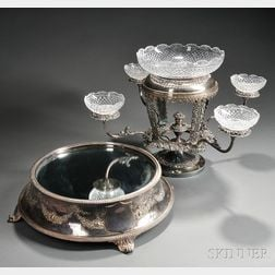 Two Pieces of Silver-plated Tableware