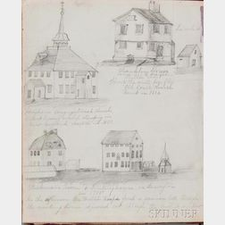 Elliott, Mary H. (fl. circa 1877) Connecticut River Sailing Journal 1877, with Drawings.