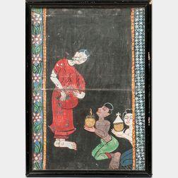 Manuscript Painting Depicting a Woman