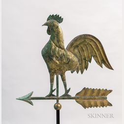 Molded Sheet Copper Rooster Weathervane