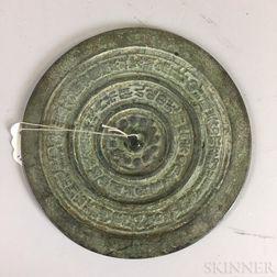 Buddhist Bronze Mirror