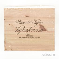 Pian delle Vigne (Antinori) Brunello di Montalcino Vigna Ferrovia 2010, 6 bottles (owc)