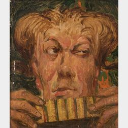 American School, 20th Century      Man with Pan Pipes