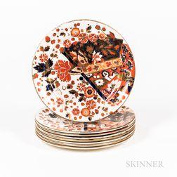 "Set of Ten Ridgway ""Old Derby"" Ceramic Plates"