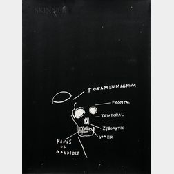 Jean-Michel Basquiat (American, 1960-1988)      Untitled (Ramus of Mandible)