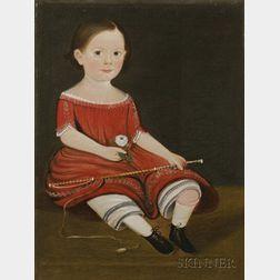 William Matthew Prior, American, (1806-1873)      Portrait of a Young Boy, c. 1852