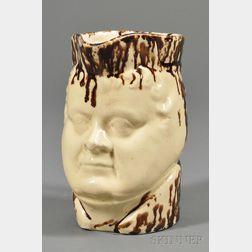 Daniel O'Connell Rockingham Glazed Pottery Pitcher