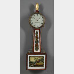 "Mahogany Patent Timepiece or ""Banjo Clock,"""